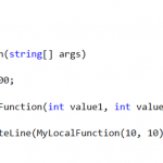 Expression Bodied  Local Function in C# 7.0